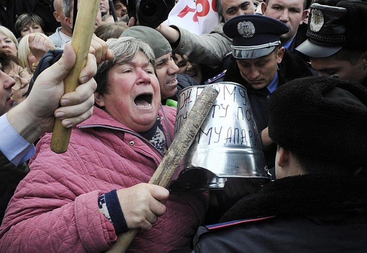 Митинг против проекта налогового законодательства, Киев, Украина