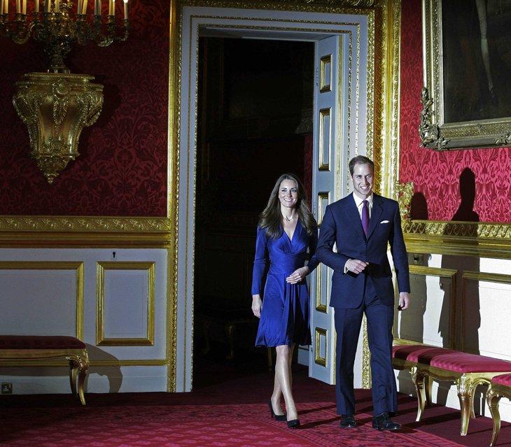 Принц Уильям и его невеста Кейт Миддлтон
