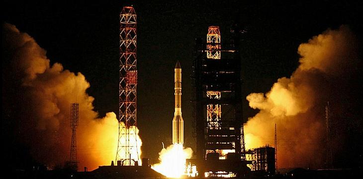 С космодрома Байконур стартовала российская ракета-носитель «Протон-М» с американским спутником связи MSV-1
