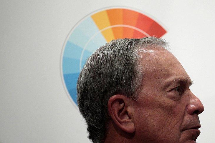 Мэр Нью-Йорка Майкл Блумберг принял участие в пресс-конференции на Международной конференции по изменению климата