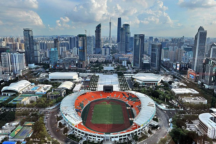 Последние приготовления к 16-м Азиатским Играм