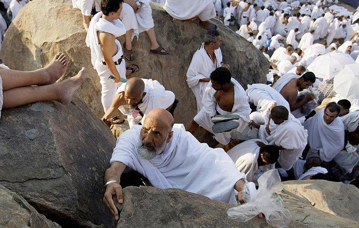 Не все так просто: приходится карабкаться вверх на гору Арафат