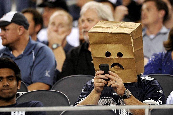 Болельщик команды Dallas Cowboys