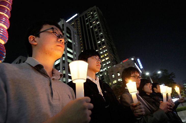 Минута молчания в память о погибших во время обстрела территории Северной Кореи