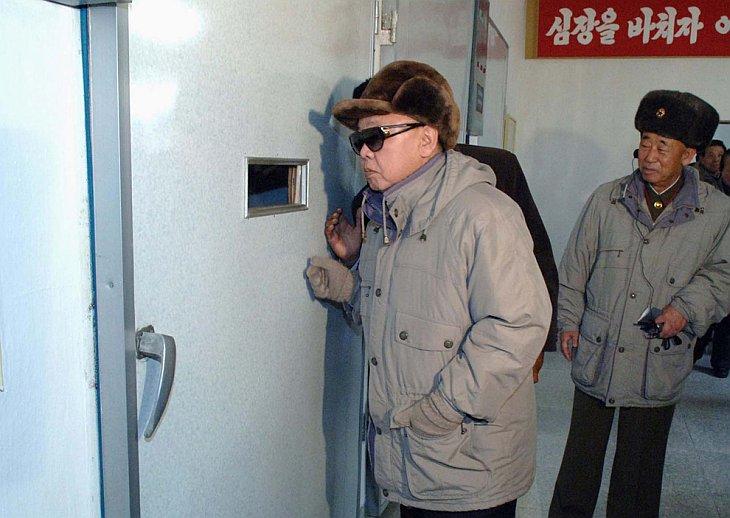 Северокорейский лидер Ким Чен Ир приехал с инспекцией на утиную ферму
