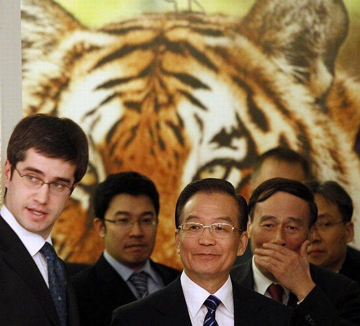 Премьер-министр Китая Вэнь Цзябао, который принимает участие в Тигрином саммите