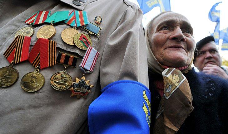 Митинг ветеранов в Киеве
