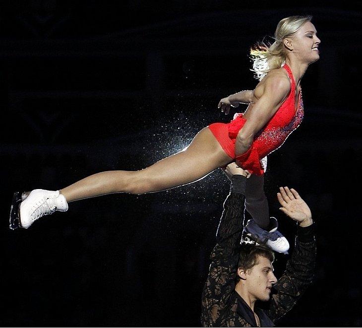 Дебютная пара Катарина Гербольдт и Александр Энберт выступали на московском этапе Гран-при Cup of Russia 2010 по фигурному катанию