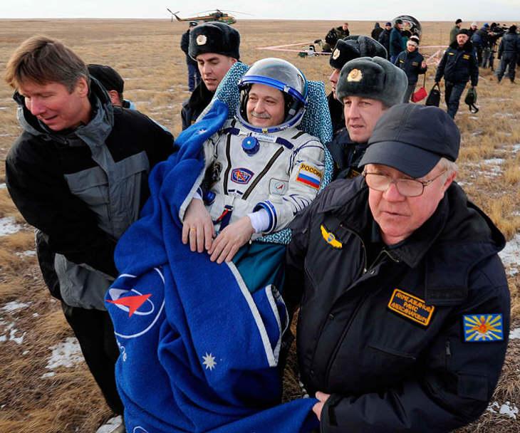 С МКС на Землю вернулись российский космонавт Юрчихин и астронавты НАСА Даглас Харри Уилок