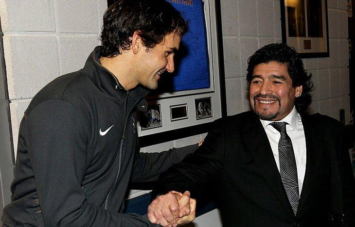 Роджер Федерер и Диего Марадона