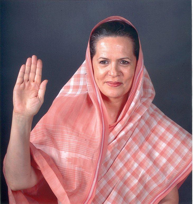 Лидер правящей в Индии партии Соня Ганди