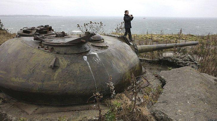 езидент Дмитрий Медведев побывал на острове Кунашир