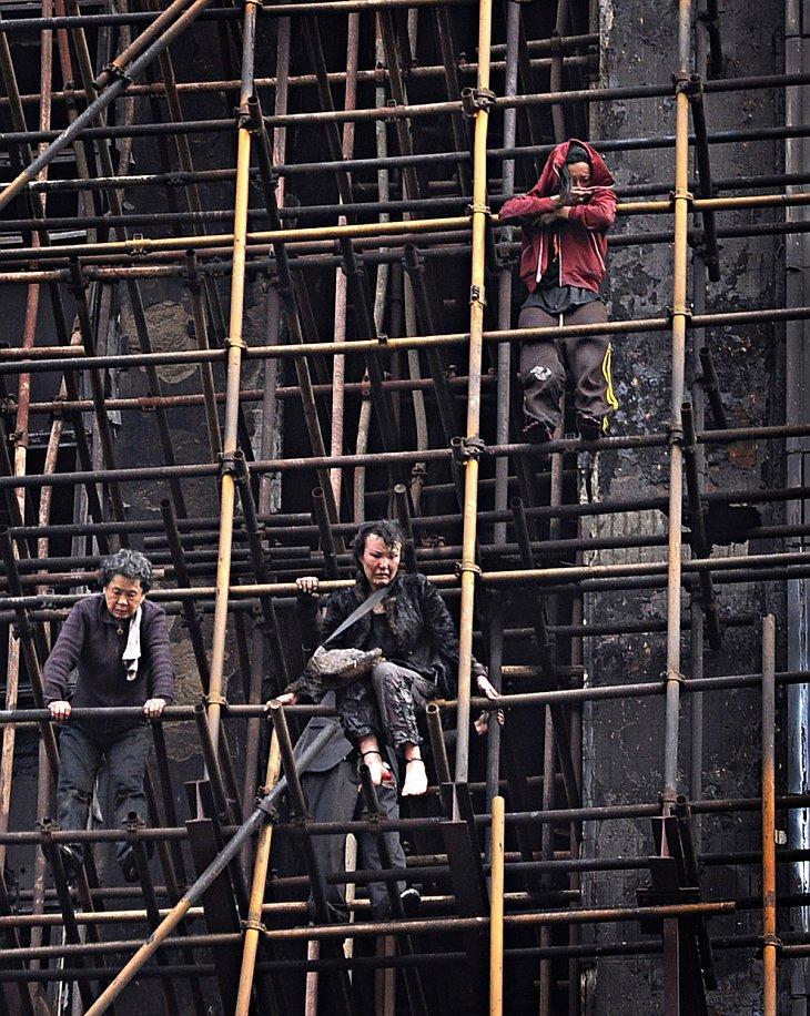 Крупнейший пожар в Шанхае