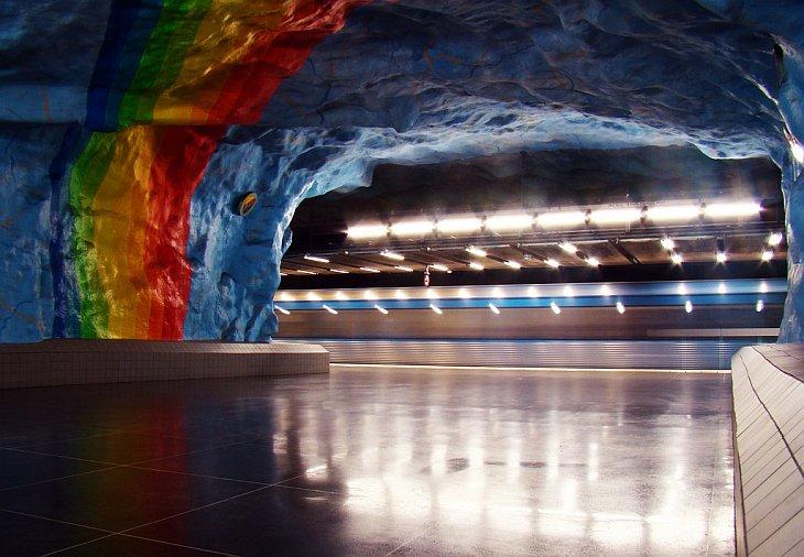 Стокгольмское метро — художественная галерея