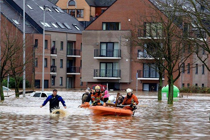 Проливные дожди вызвали наводнения в ряде областей в Бельгии