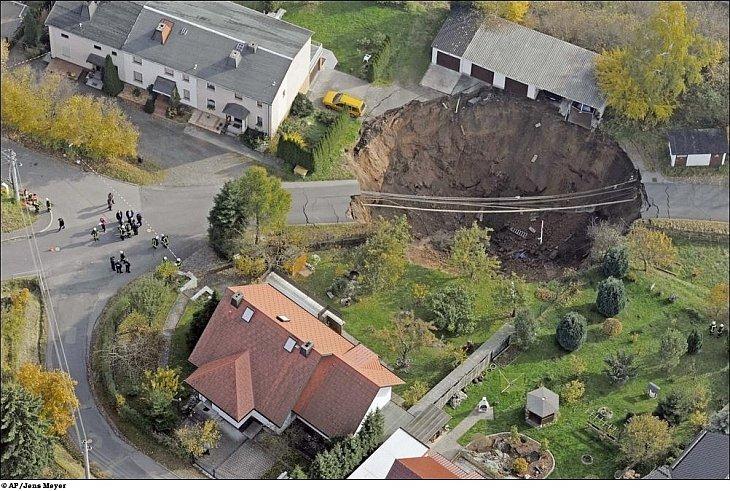 Гигантская воронка образовалась в Германии