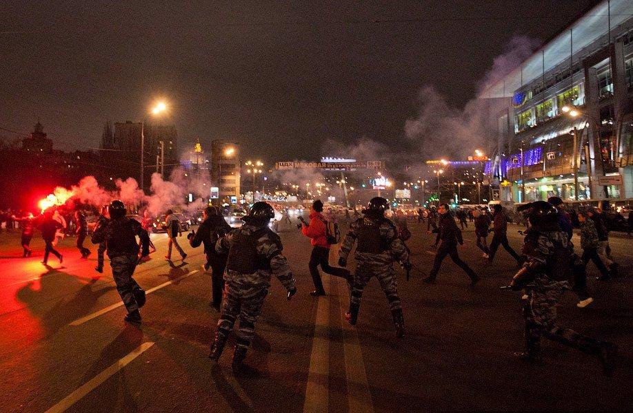 Беспорядки у Киевского вокзала