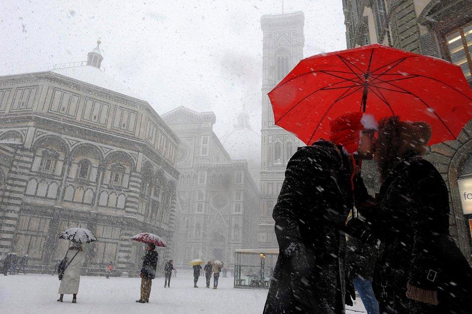 Снегопад во Флоренции