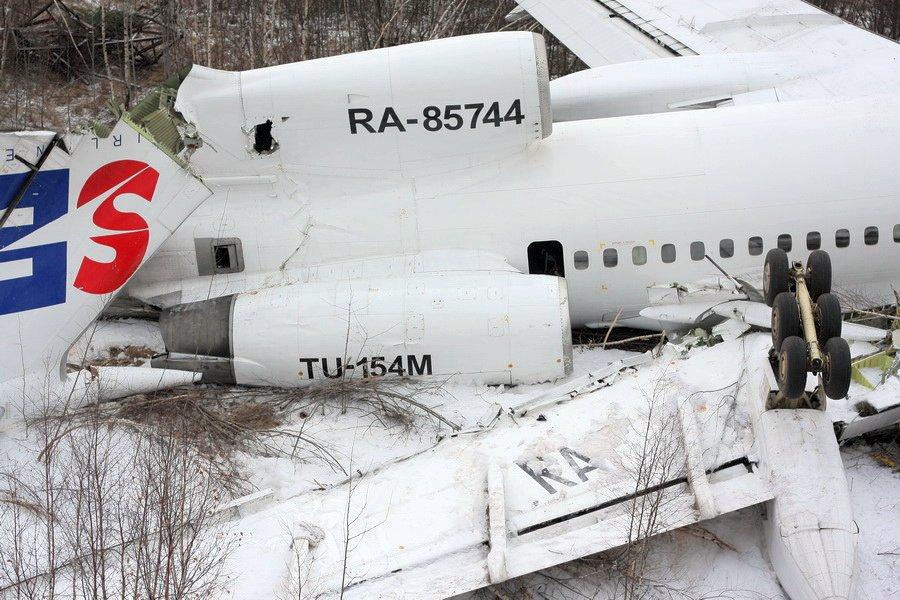 Аварийная посадка Ту-154 Москва — Махачкала