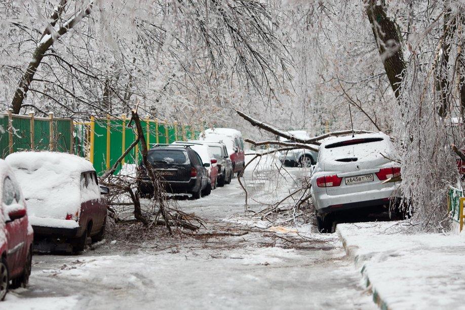 Ледяной дождь в Москве