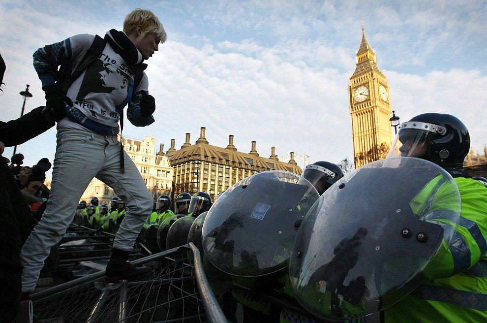 Студенческие протесты в центре Лондона