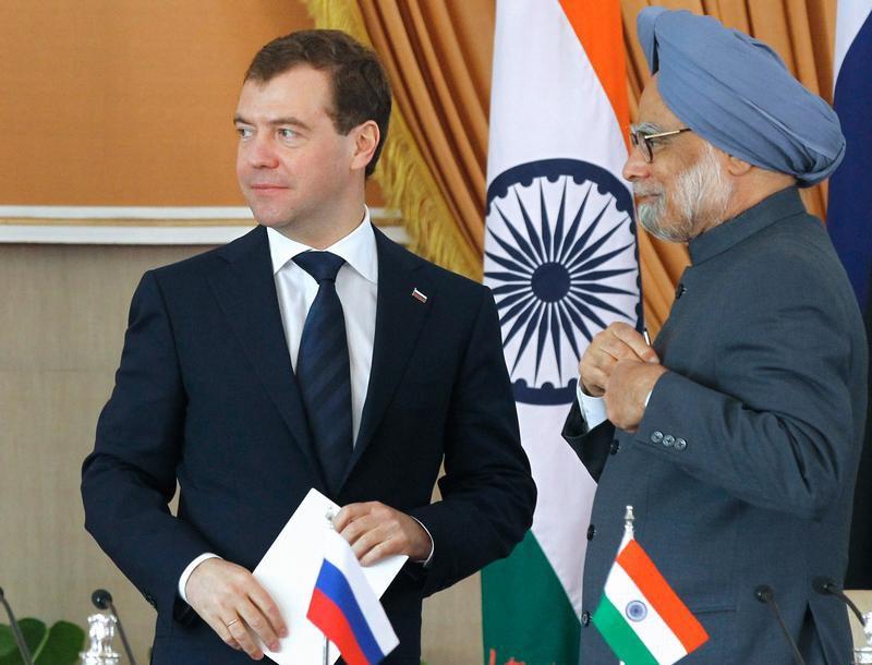 Дмитрий Медведев и премьер-министр Индии Манмохана Сингха