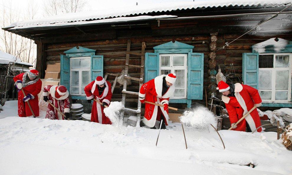 Деды Морозы в Красноярске