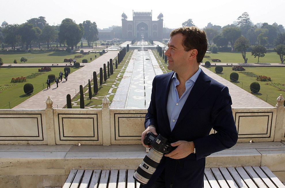 Дмитрий Медведев в Индии