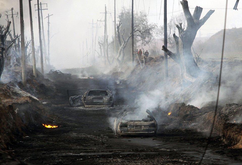 Взрыв на нефтепроводе компании «Пемекс»