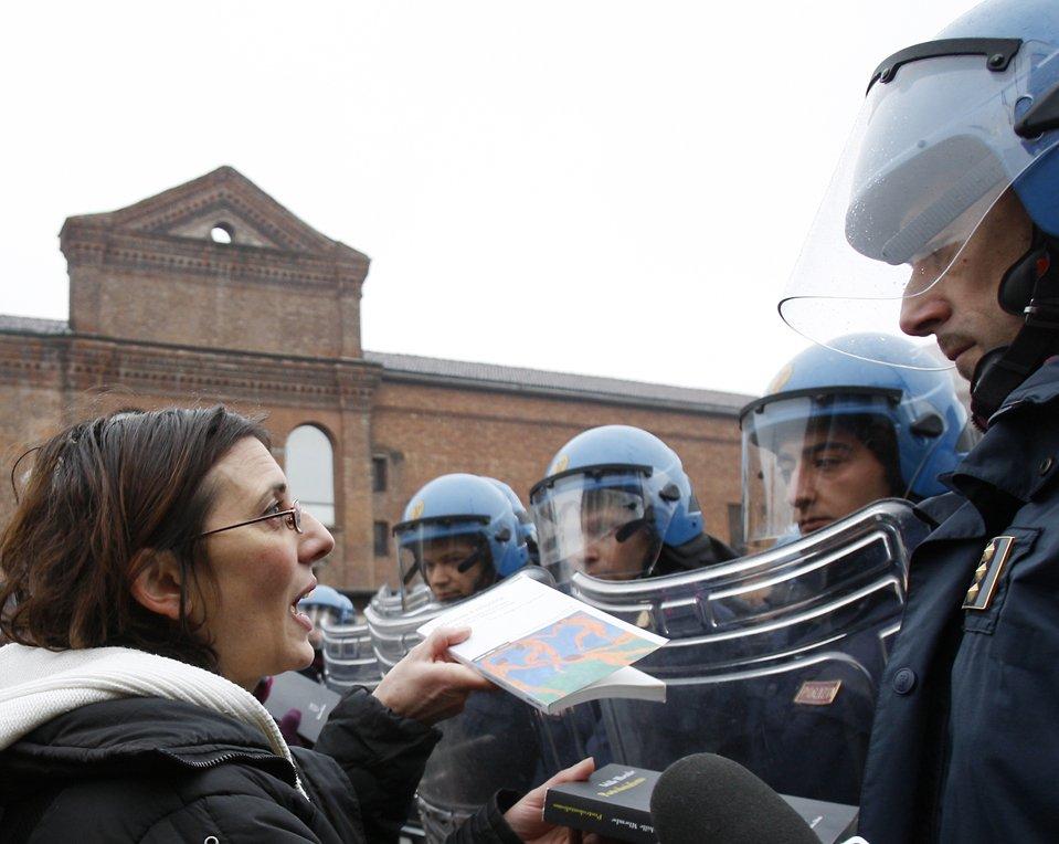 В Милане прошли акции протеста студентов