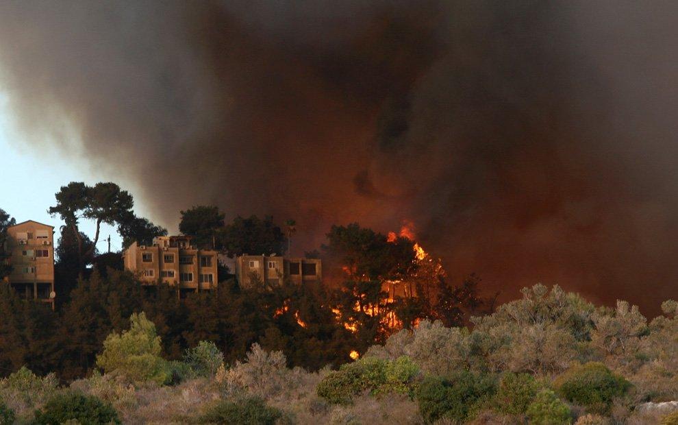 Самый крупный лесной пожар в истории Израиля