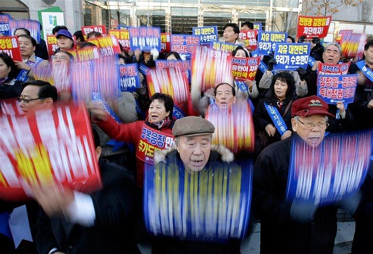 29 ноября 2010 в Сеуле в Южной Корее прошел митинг с осуждением действий Северной Кореи
