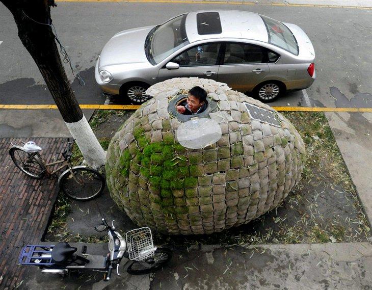 Китаец построил дом-яйцо