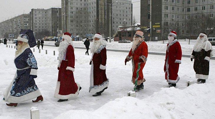 30 ноября 2010 в Красноярске прошел конкурс Дедов Морозов.