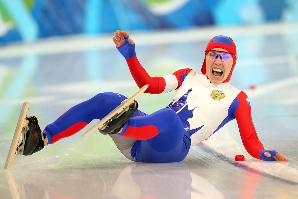 Российская конькобежка Юлия Немая