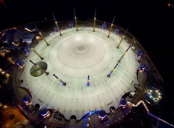 Ночной Лондон с высоты птичьего полета