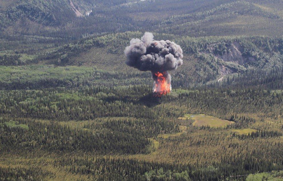 Крушение грузового самолета у въезда в национальный парк Денали на Аляске