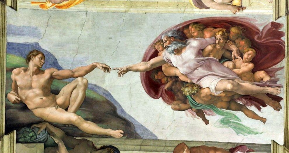 Бог создал Адама — Картина в Сикстинской капелле
