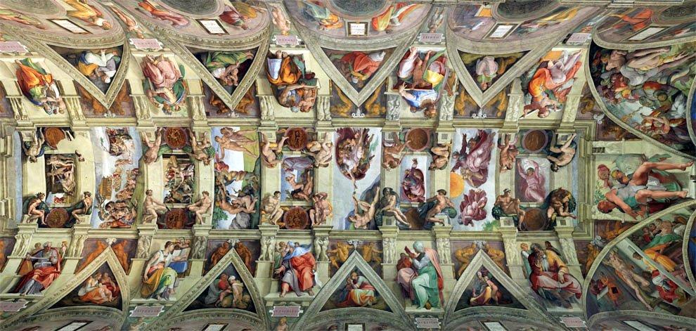 Потолок в Сикстинской капелле