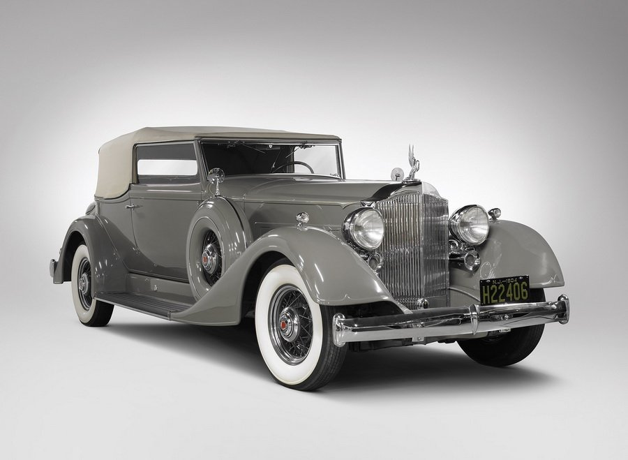 1934 Packard Super Eight Convertible Victoria