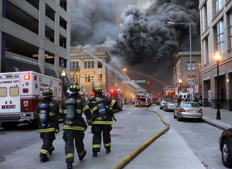 Пожар в Балтиморе, штат Мэриленд