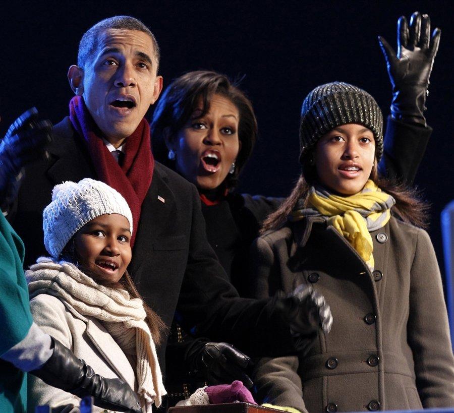 Барак Обама и его семья