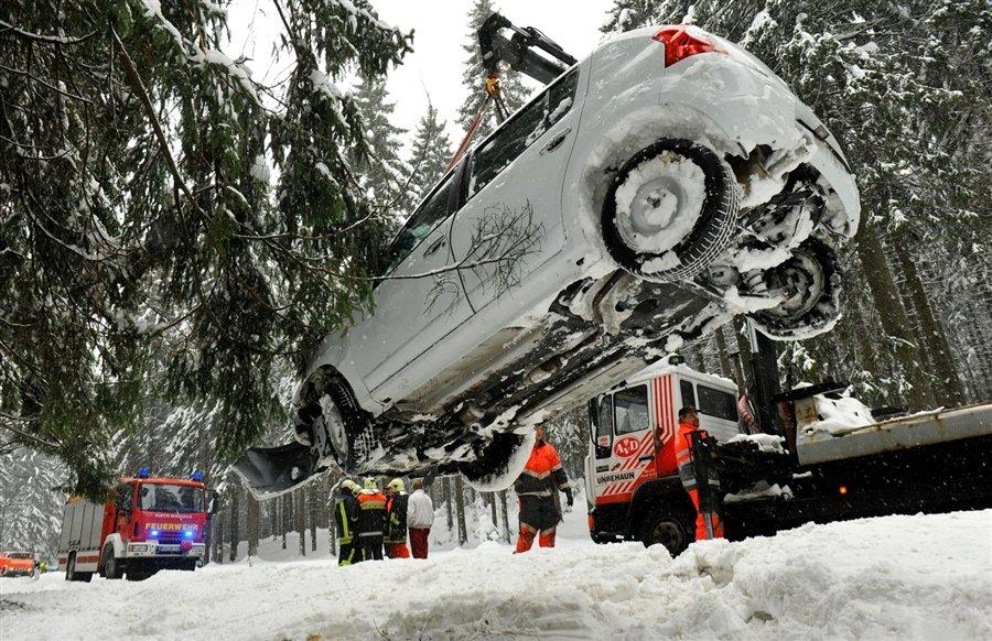В Германии продолжаются небывалые снегопады