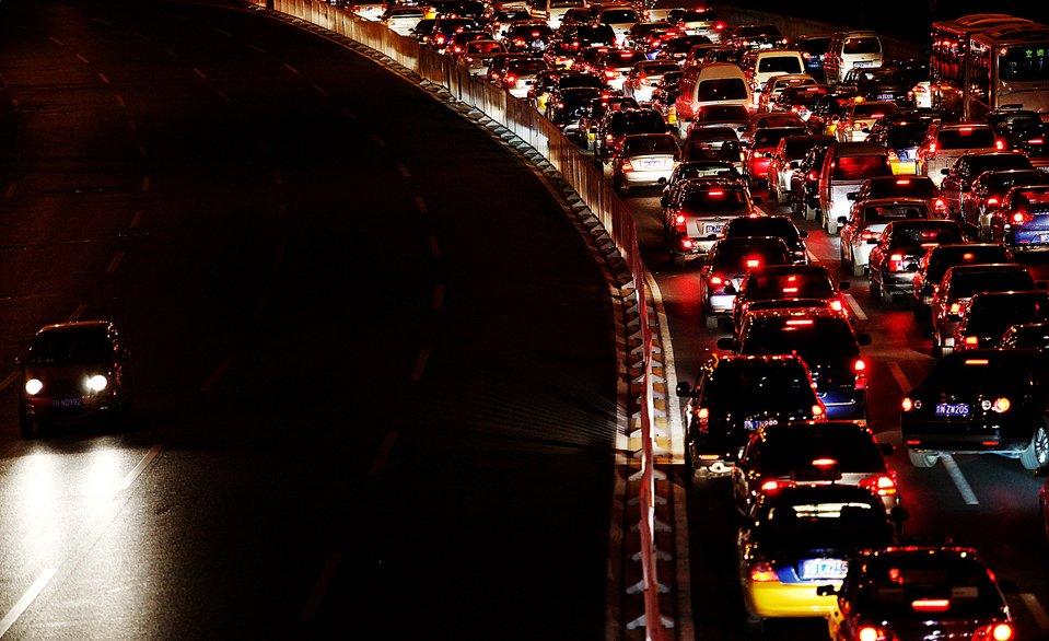 Огромная пробка в Пекине