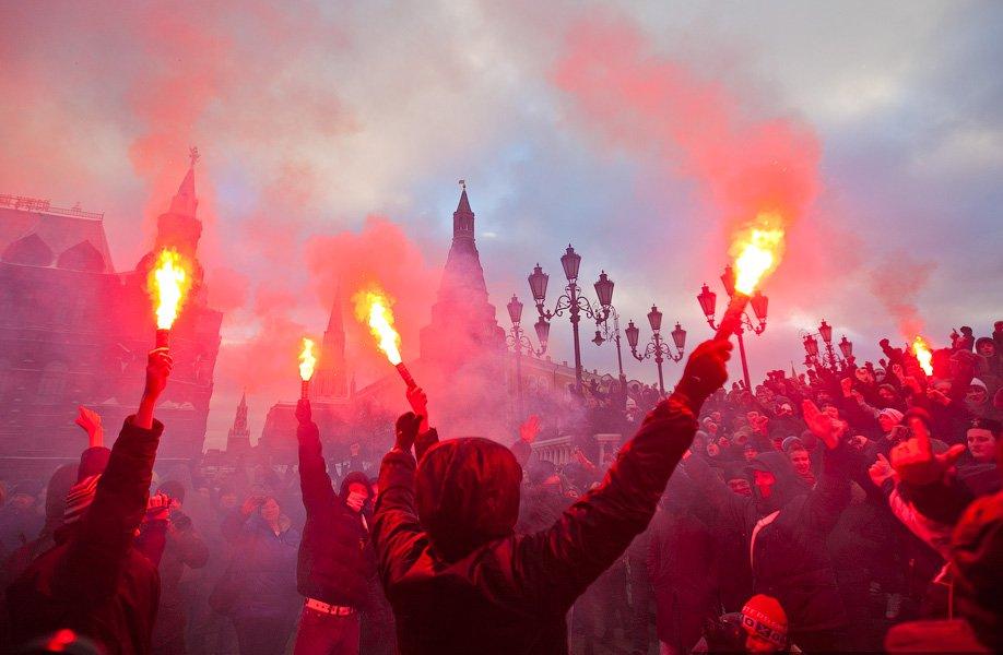 В центре Москвы прошли массовые беспорядки