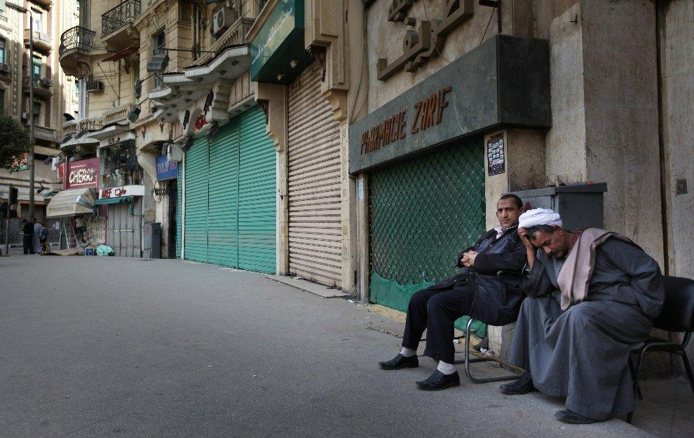 Закрытые магазины в Каире