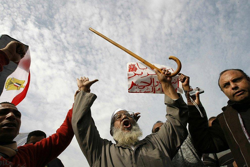 На площади Освобождения 1 февраля 2011