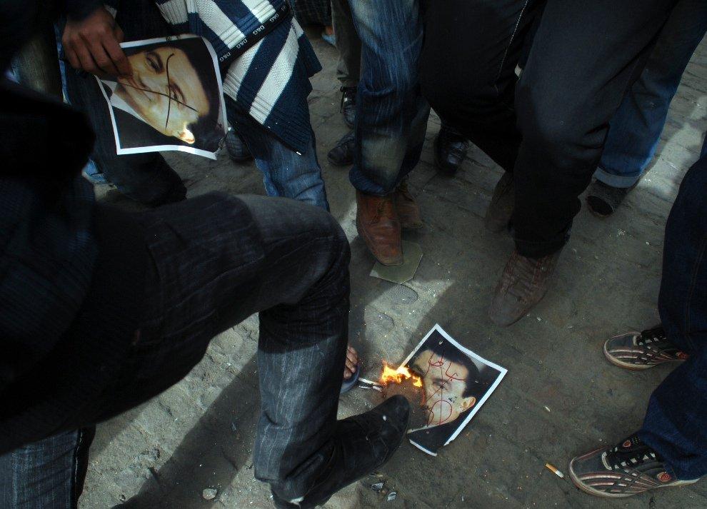 Эмоции протестующих на площади Тахрир
