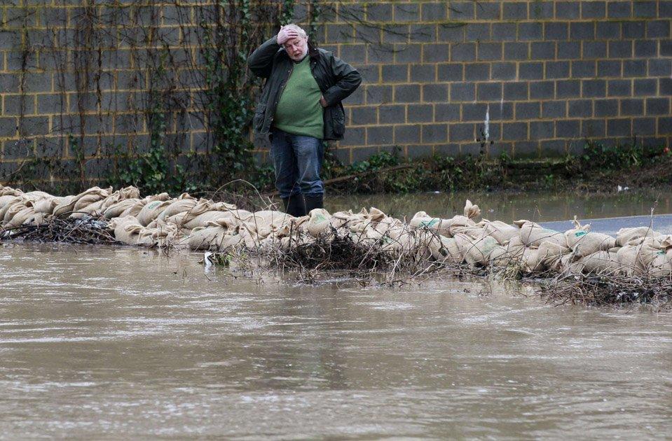 Наводнение в городе Герардсберген, Бельгия