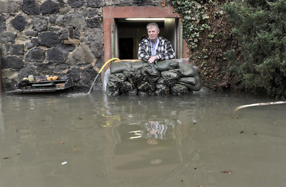 Наводнение в городе Ханау, Германия